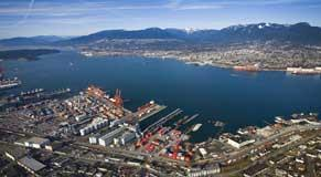 Burrard Inlet, the Port of Vancouver